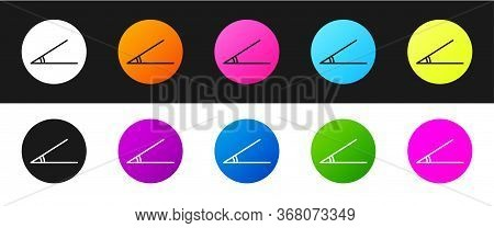 Set Acute Angle Of 45 Degrees Icon Isolated On Black And White Background. Vector Illustration