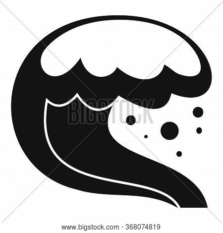 Tsunami Natural Disaster Icon. Simple Illustration Of Tsunami Natural Disaster Vector Icon For Web D