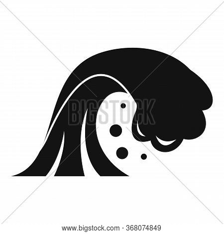 Warning Tsunami Icon. Simple Illustration Of Warning Tsunami Vector Icon For Web Design Isolated On