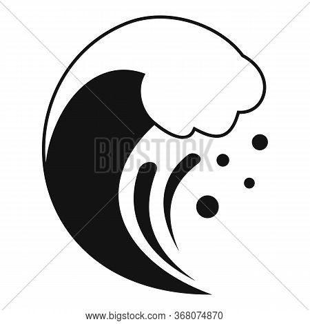 Alarm Tsunami Icon. Simple Illustration Of Alarm Tsunami Vector Icon For Web Design Isolated On Whit