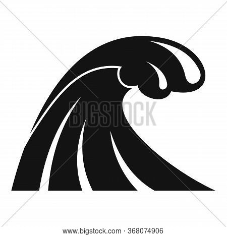 Tsunami Wave Flood Icon. Simple Illustration Of Tsunami Wave Flood Vector Icon For Web Design Isolat