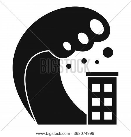 Beach Tsunami Icon. Simple Illustration Of Beach Tsunami Vector Icon For Web Design Isolated On Whit