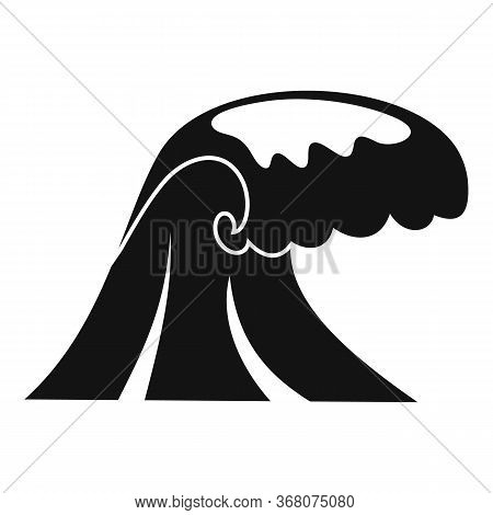 Seismic Tsunami Icon. Simple Illustration Of Seismic Tsunami Vector Icon For Web Design Isolated On