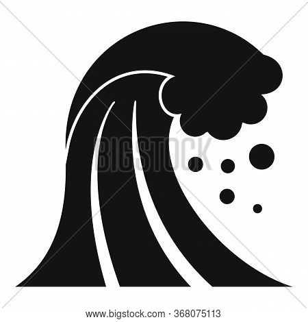 Damage Tsunami Icon. Simple Illustration Of Damage Tsunami Vector Icon For Web Design Isolated On Wh