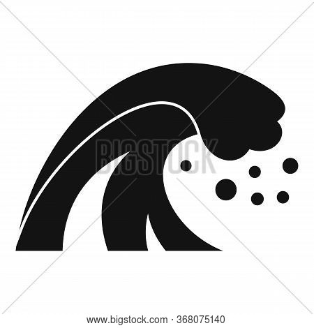 Water Tsunami Icon. Simple Illustration Of Water Tsunami Vector Icon For Web Design Isolated On Whit