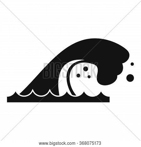 Summer Tsunami Icon. Simple Illustration Of Summer Tsunami Vector Icon For Web Design Isolated On Wh