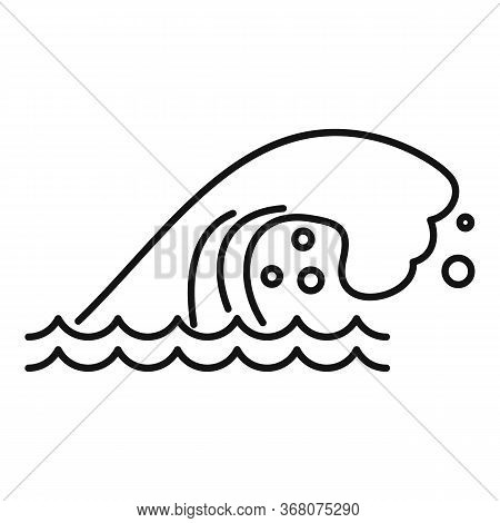 Natural Tsunami Icon. Outline Natural Tsunami Vector Icon For Web Design Isolated On White Backgroun