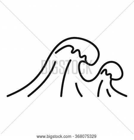 Tsunami Natural Disaster Icon. Outline Tsunami Natural Disaster Vector Icon For Web Design Isolated