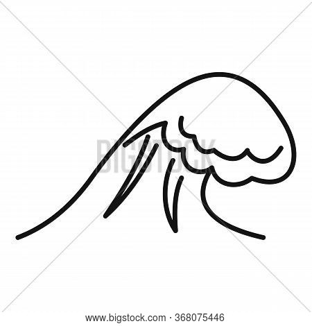 Risk Tsunami Icon. Outline Risk Tsunami Vector Icon For Web Design Isolated On White Background