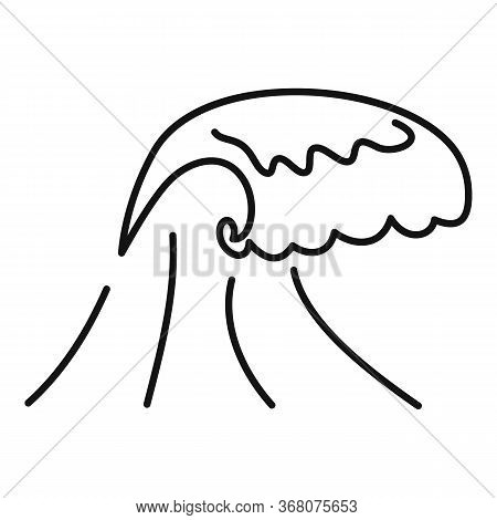 Damage Tsunami Icon. Outline Damage Tsunami Vector Icon For Web Design Isolated On White Background