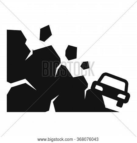 Accident Landslide Icon. Simple Illustration Of Accident Landslide Vector Icon For Web Design Isolat