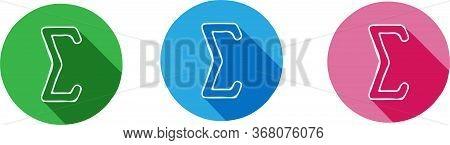 Sigma Icon Isolated On Background , Measure, Modern, Radius