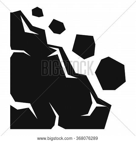 Disaster Landslide Icon. Simple Illustration Of Disaster Landslide Vector Icon For Web Design Isolat