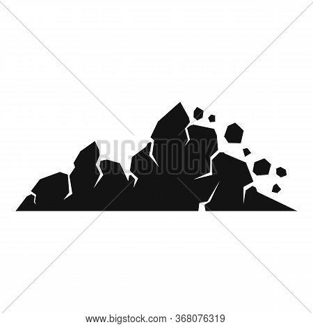 Surface Landslide Icon. Simple Illustration Of Surface Landslide Vector Icon For Web Design Isolated
