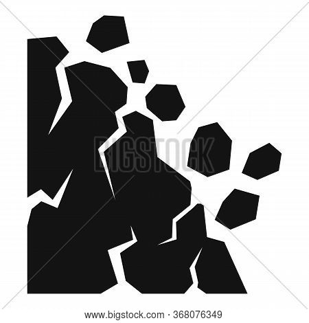 Down Landslide Icon. Simple Illustration Of Down Landslide Vector Icon For Web Design Isolated On Wh