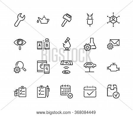 Examination Icon Set. Can Be Used For Topics Like Service, Checking, Expertise, Research