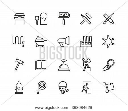 Occupations Icon Set. Can Be Used For Topics Like Work, Job, Activity, Tools, Profession, Safety