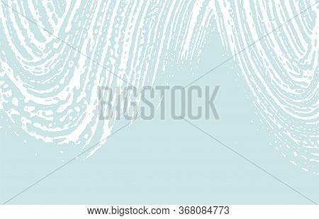 Grunge Texture. Distress Blue Rough Trace. Curious Background. Noise Dirty Grunge Texture. Immaculat
