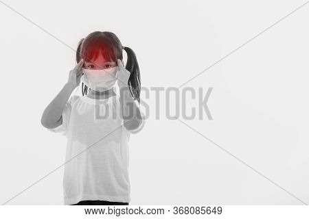 Young Girl Suffering From Strong Headache