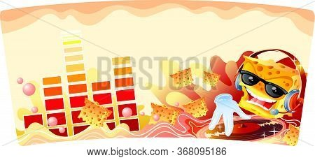 Illustration With Cracker Character And Music, Vector Illustration, Eps