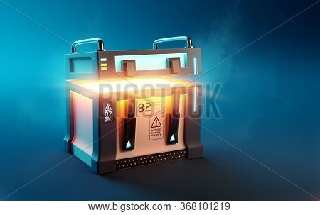 Fantasy Futuristic Mystery Loot Box Case Opening Up To Reveal Its Surprise Contents. 3d Illustration