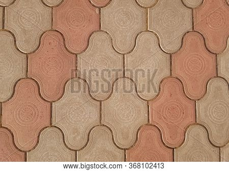 Background Of Concrete Paving Slabs. Texture Of Paving Slabs. Paving Slab
