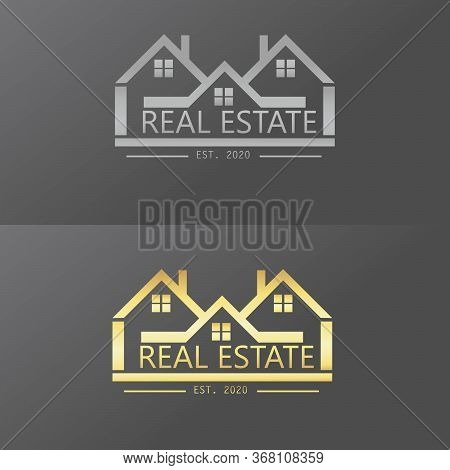 Real Estate Template Logo. Real Estate Silver. Real Estate Gold.