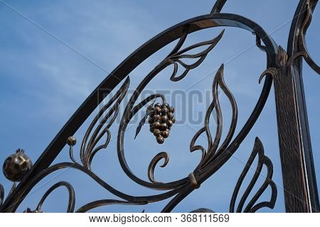 Forged Decorated Fence Against The Sky, Architecture