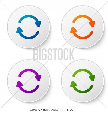 Color Refresh Icon Isolated On White Background. Reload Symbol. Rotation Arrows In A Circle Sign. Se