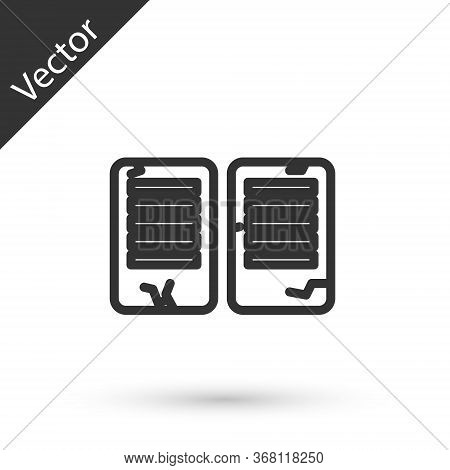 Grey Line The Commandments Icon Isolated On White Background. Gods Law Concept. Vector Illustration