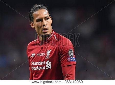 Madrid, Spain - June 1, 2019: Virgil Van Dijk Of Liverpool Pictured During The 2018/19 Uefa Champion