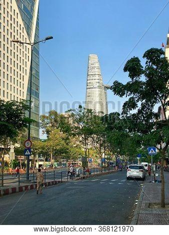 Ho Chi Minh City, Vietnam - February 9, 2019: Cityscape Of Ho Chi Minh City. Bitexco Financial Tower