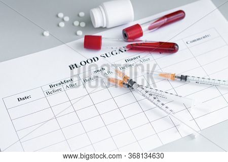 Level Of Glucose In The Blood Measure Devices With Blood Sugar Level Chart. World Diabetes Day, 14 N
