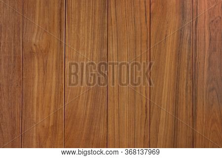 Teak wood (Tectona grandis)  wood paneling texture. Raw unfinished Teak surface. Prized wood for durability and water resistance due to it's natural oils.