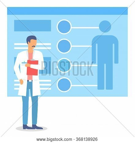 Mobile Medicine. Modern Technologies In Health And Medical Consultation. Checkup Result On Big Board