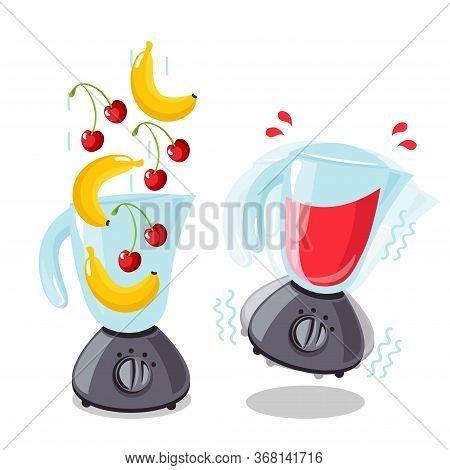 Organic Raw Cherry And Banana Shake. Food
