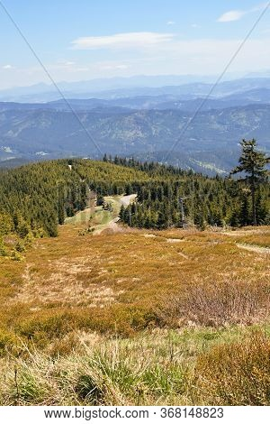 Views From Lysá Hora, The Highest Peak 1324 M.n.m. On The Piste,moravian-silesian Beskydy, Czech Rep