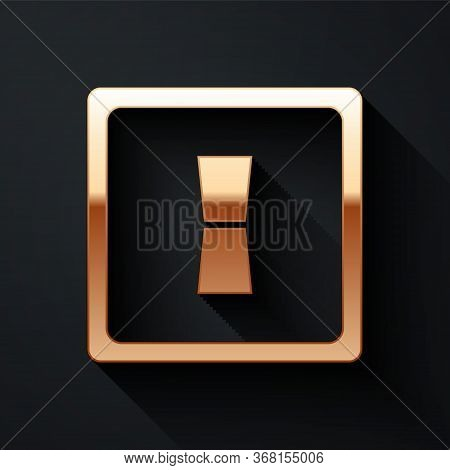 Gold Electric Light Switch Icon Isolated On Black Background. On And Off Icon. Dimmer Light Switch S