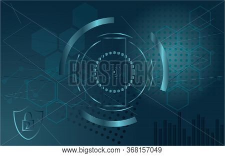 It Security Concept Background Tech Graphic Resource Design Vector Illustration