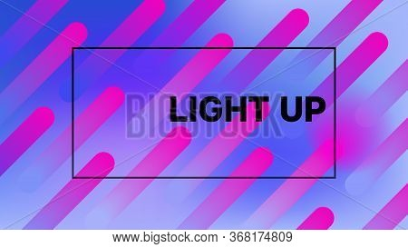 Funky Neon Blend Vector Background. Dreamy Neon Bright Trendy Landing Page. Pearlescent Noble Vector