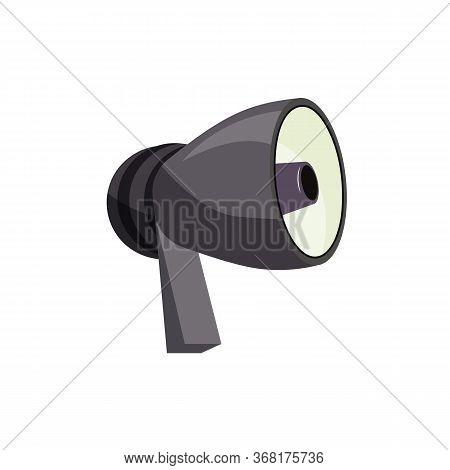 Grey Bullhorn To Make Voice Louder. Loudspeaker, Equipment, Volume. Can Be Used For Topics Like Broa