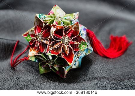 Origami Japan traditional art in the shape of a ball - Kusudama