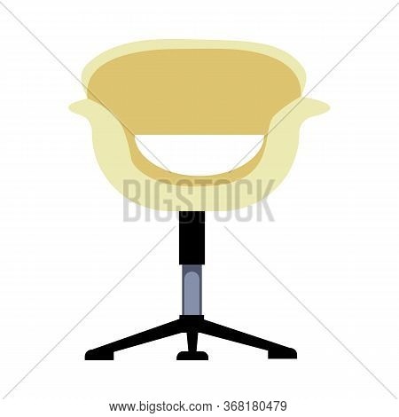 Modern Office Chair Flat Icon. Office Furniture, Ergonomic Chair, Lounge Room. Chairs Concept. Illus
