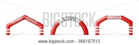 Inflatable Arches, Start Archways For Races, Marathon And Sports Events. Gates For Sports Competitio