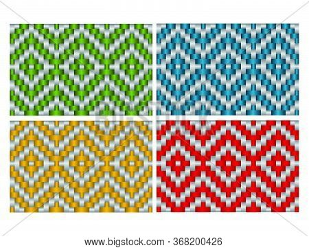 Beautiful Decorative Ethnic Woven (anyaman) Background Texture 18