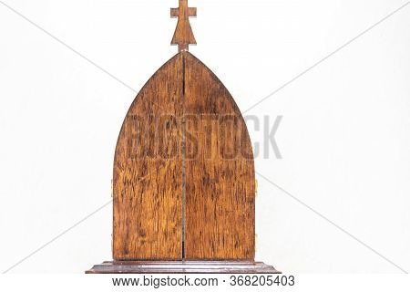 Symbolism And Religiosity. Image Of Saint Of The Catholic Church. Symbol Of Faith And Hope. Christia