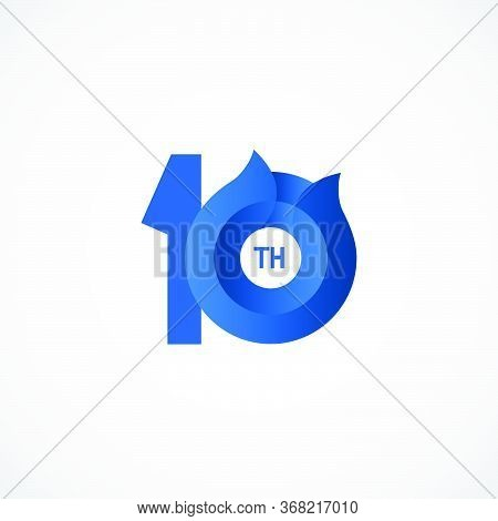 10 Th Anniversary Celebrations Vector Template Design Illustration