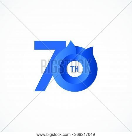 70 Th Anniversary Celebrations Vector Template Design Illustration