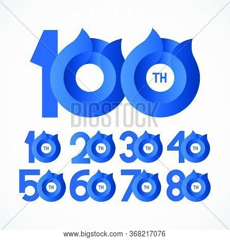 100 Th Anniversary Celebrations Vector Template Design Illustration