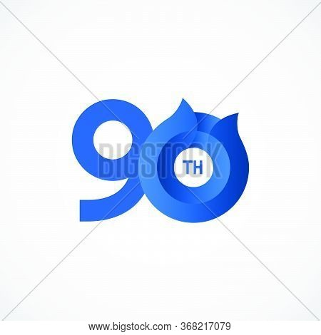 90 Th Anniversary Celebrations Vector Template Design Illustration